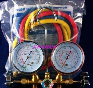 Air Conditioning AC Diagnostic Manifold Gauge Tool Set sn