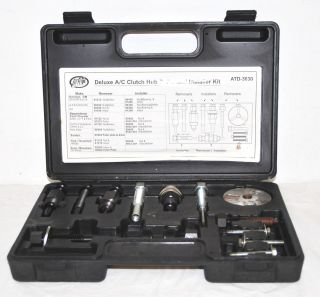 AIR CONDITIONING COMPRESSOR/ CLUTCH SERVICE TOOL KIT WITH CASE ADT