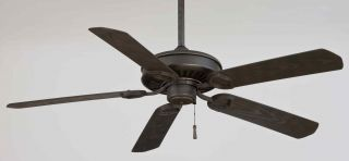 Minka Aire Sundowner 54 Ceiling Fan Model F589 Bi AI in Black Iron