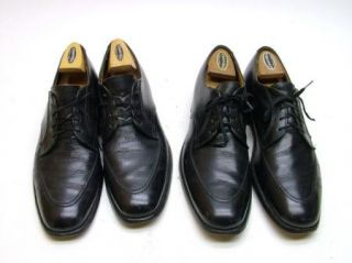 Lot of 2 Mens Vtg Alden 471 Black Oxford Dress Shoes Size 11 5 1 2 AAA