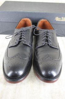Allen Edmonds Players Wingtip Oxford Black Lace Up Shoe Size 10 D $