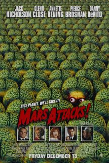 Mars Attacks Movie Poster 1 Sided Original Rolled 27x40