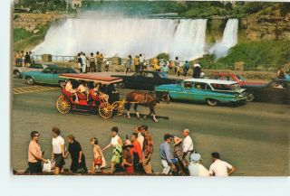 Vintage Postcards American Falls from Niagara Falls Canada Carriage