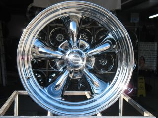 CHROME AMERICAN RACING VN815 WHEELS RIMS 5X4 75 5X4 3 4 HOT ROD CHROME