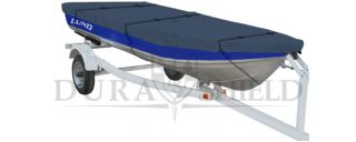 Boat Cover 14 16 for Aluminum Fishing Boats Trailerable with Straps