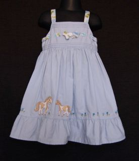 Gymboree Malibu Cowgirl Kid Girl Horse Pony Dress 3T