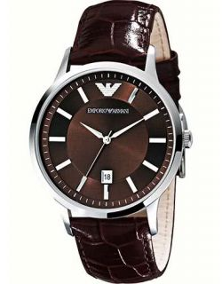 Emporio Armani AR2413 Mens Classic Brown Leather Watch