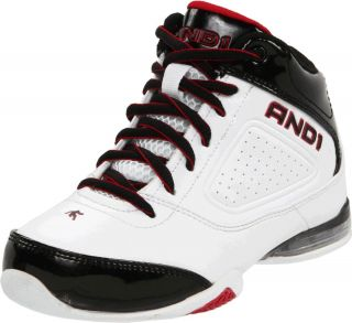 AND1 Release Mid Mens White Black Red Athletic Comfort Basketball