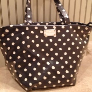 Authentic Kate Spade Dizzy Dot Anabel Shoulder Purse Bag Tote NAVY