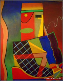 Americus T Long African American Modernism Cubist Abstraction Art Deco