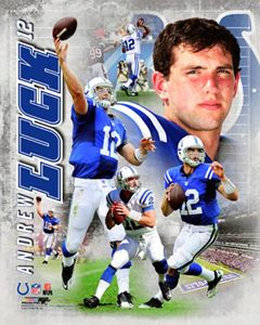 Andrew Luck SUPERSTAR Indianapolis Colts 2012 NFL Football Action