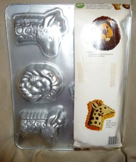 Wilton Mini Jungle Zoo Animals Treat Cake Pan Original Package