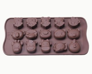 30 Animal Shapes Cake Chocolate Soap Candy Jelly Ice Cubes Tray Mold