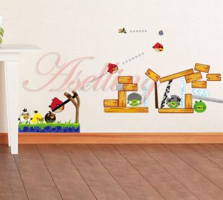 Infant Baby Kids Nursery Cot Room Decor Angry Bird Removable Wall