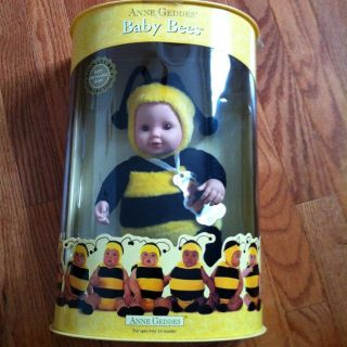 NIB Anne Geddes Baby Bees Doll   Signature Collection   Bumblebee Soft