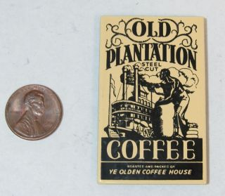 Kitchen Fridge Magnet Old Plantation Coffee Metal Advertising Retro