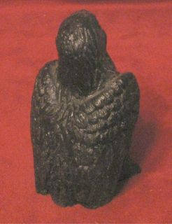 American Bald Eagle Carved Out of Coal Ansted WV Black