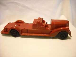 antique metal toy rare red fire truck die cast