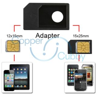 For Apple iPad WiFi 3G Micro Sim Card Adapter Converter