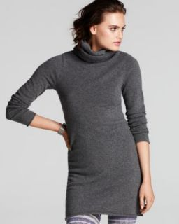 Aqua New Gray Cashmere Long Sleeve Turtleneck Pullover Sweater Tunic M
