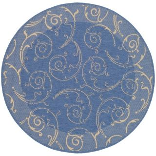 Indoor Outdoor Blue Natural Carpet Area Rug 7 Round
