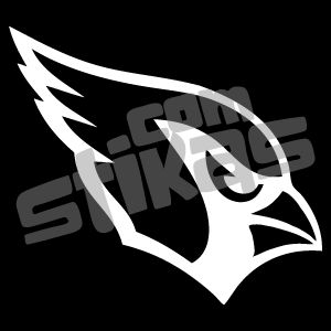 Arizona Cardinals White Vinyl Decal NFL Football Car Window Sticker
