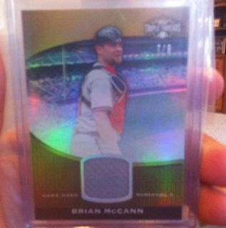 2011 Topps Triple Threads Brian McCann Jersey Relic 7 9 Braves
