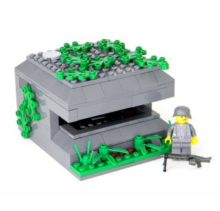 Custom LEGO World War 2 German bunker army builder complete set