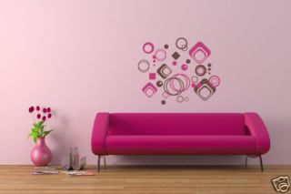 Geometric Shapes Vinyl Wall Art Decal Sticker