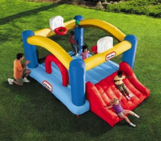 Inflatable Sports Theme Bounce House Bouncer Slide Little Tikes