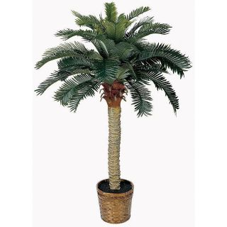 New Silk Tropical 4 Sago Palm Tree Artificial Realistic Fake Plants