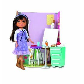 New Dora Links Explorer Girls School Art Room Playset