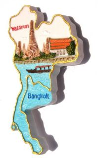 Temple of The Dawn Thailand Souvenir Map Fridge Magnet