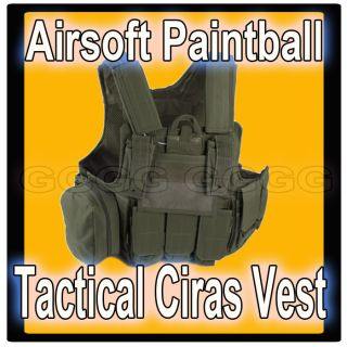 Army Airsoft Tactical Assault Vest MOLLE CIRAS Green