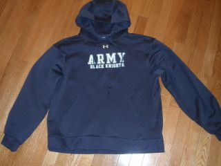 Extra Large Under Armour Army Black Knights Charcoal Hoodie Sweatshirt