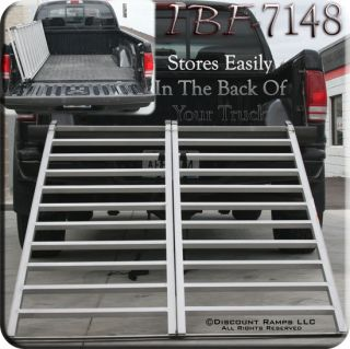 NEW ATV QUAD BI FOLD RAMP EXTRA WIDE ALUMINUM RAMPS (IBF 7148)