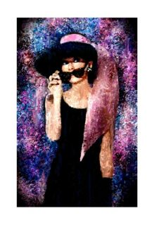 Audrey Hepburn Portrait Painting Canvas Movie Art Poste