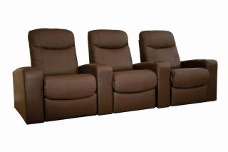 8326 Home Theater Seating Recliner Movie Chairs 3 Seats