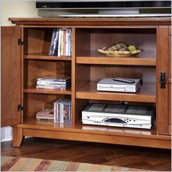 Home Styles Arts Crafts Corner Cottage Oak Finish TV Stand
