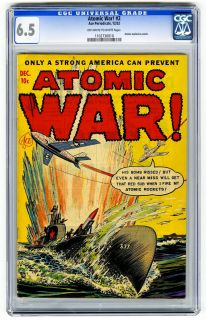 Atomic War #2 CGC 6.5 OW/W Pre Code Explosion Panels Ace Golden Age
