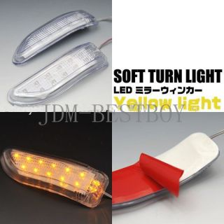 Blue LED Car Side Mirror Turn Signal Lights Amber Indicator Soft