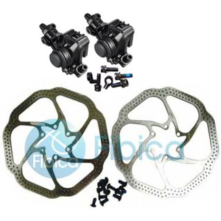BR M375 Mechanical Disc Brake Calipers Set with Avid HS1 Rotors