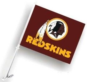 Washington Redskins Car Auto Flag Banner Pole 2 Sided NFL Football