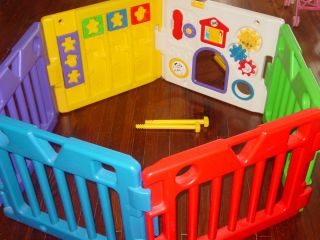 Todays Kids Play Yard Play Pen Gate Baby Toddler Activity Center