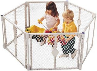 North State Superyard XT Baby Safety Gate Play Yard Pet