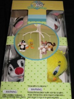 Baby Looney Tunes 7p Crib Bedding Nursery Set Tweety Bird Circles Taz
