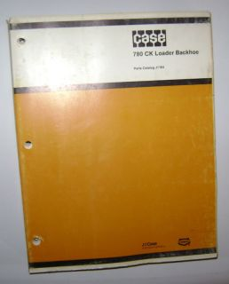Case 780 CK Tractor Loader Backhoe Parts Catalog Manual