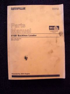 Caterpillar 416B Backhoe Tractor Parts Catalog 900 Pgs