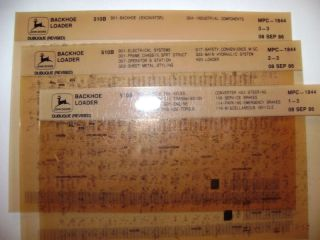 John Deere 510B Loader Backhoe Parts Catalog Microfiche