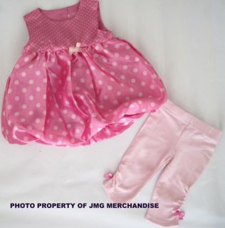 New Baby Girls Pink Dress Leggings Set Party Outfit